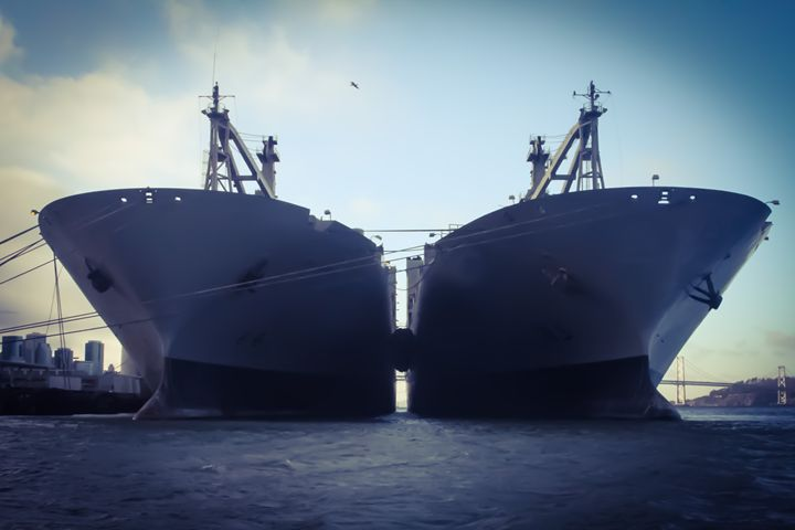 Naval Ships, San Francisco Bay - KonKave Media Arts