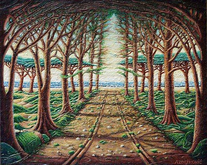Alley pine trees - Dragan Azdejkovic