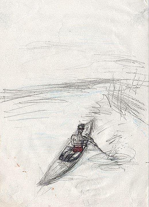 Boy in boat - Dragan Azdejkovic