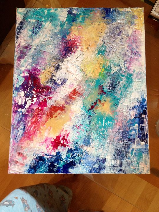 Oil abstract painting - ArtGabie