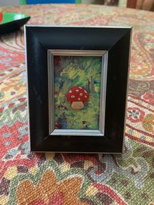 3D Mushroom in Small Frame