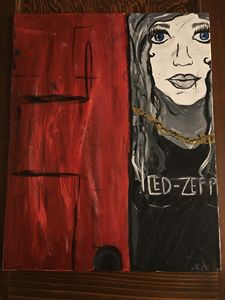 Girl behind the Red Door