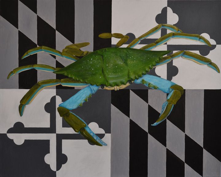 Maryland Blue Crab - Raymond's Art - Paintings & Prints