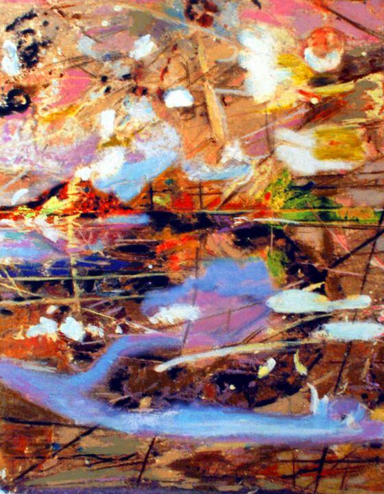 Waterside Mountainous Landscape - Orie Shafer Studios