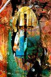 Small abstract mixed media drawing