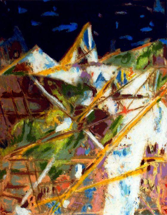 Mountain side landscape - Orie Shafer Studios