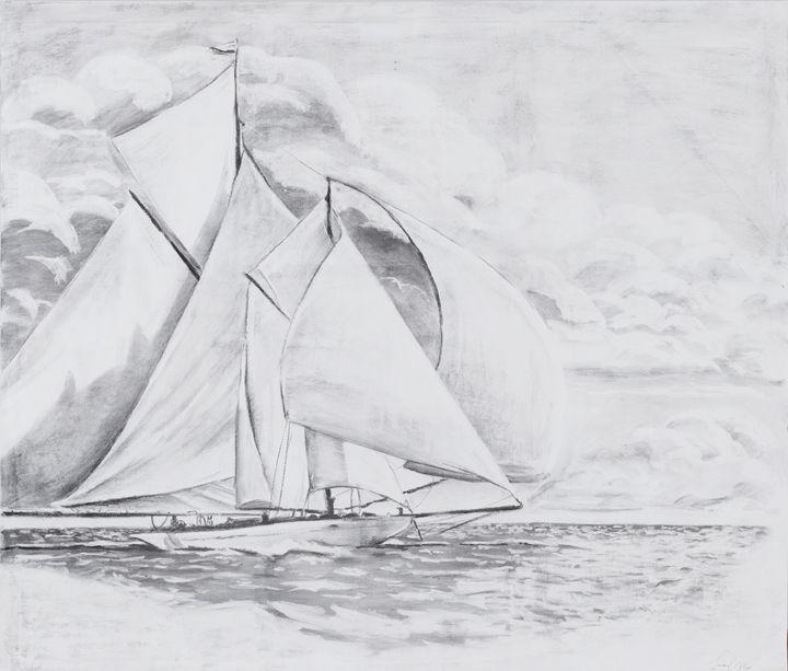 Escaping the storm - Jonathan Patrick Art