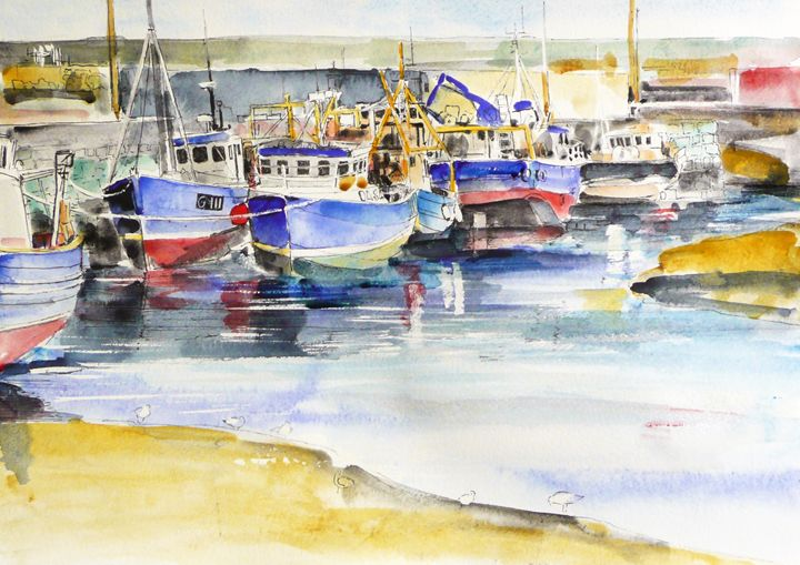 Blue Boats - NoelManning