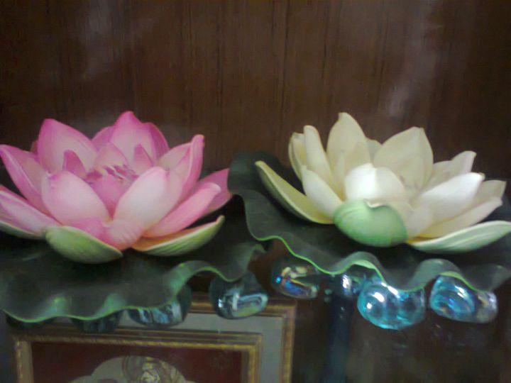 Lotus Flowers Decorative Craftwork - ISHIKAS GALLERIA