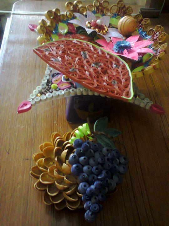 Quilling Craftwork designed Bowl - ISHIKAS GALLERIA