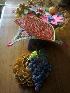 Quilling Craftwork designed Bowl