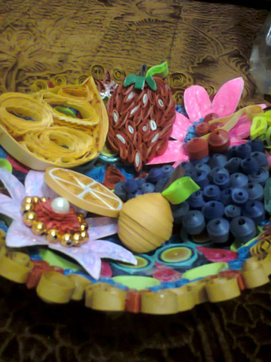 Quilling Craftwork - Fruit Bowl - ISHIKAS GALLERIA