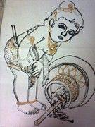 Childhood Lord Krishna Cutest Form - ISHIKAS GALLERIA