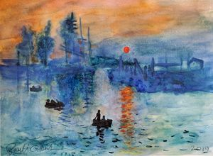 """Gilby vs. Monet.... Impression Sunr"
