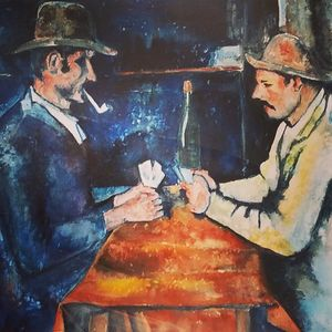 """Gilby vs. Cezanne The Card Players"""