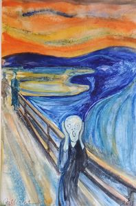 """Gilby vs. Edvard Munch... The Screa"