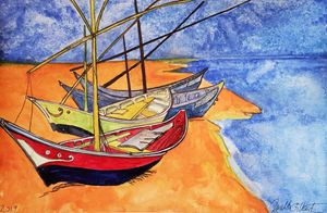 """Gilby vs. Van Gogh...Fishing Boats"""