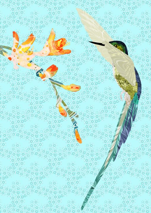 A Hummingbird Flaps Her Wings  #2 - MarbleCloud