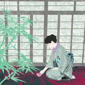Matcha in Kintsugi by the Shoji