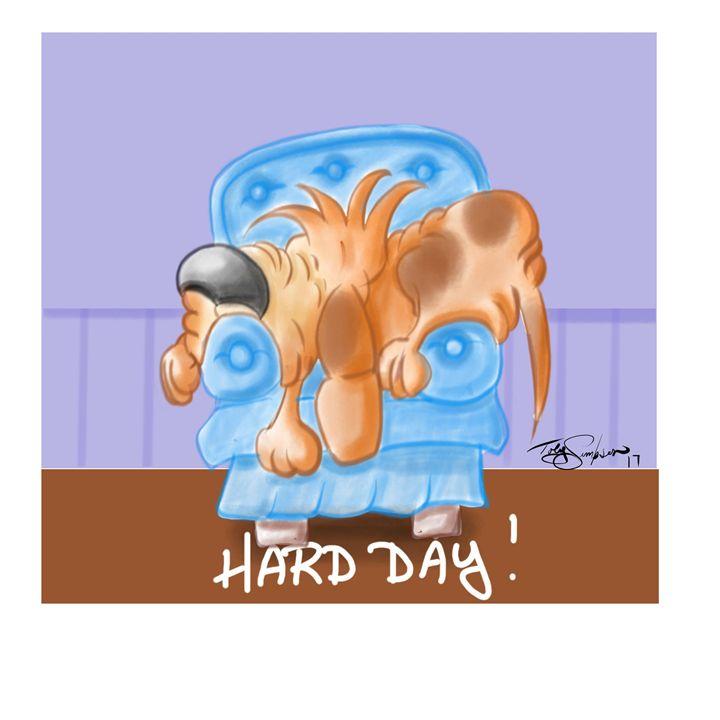 Hard Day - Artooning
