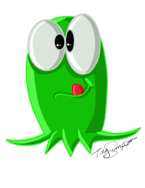 Green Blob - Artooning