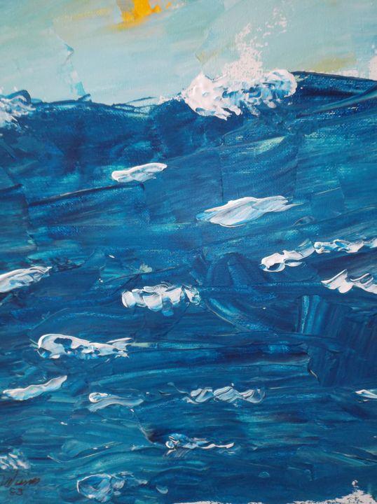 """83-27 """"Rough Seas"""" - Paintings by D Wisner"""
