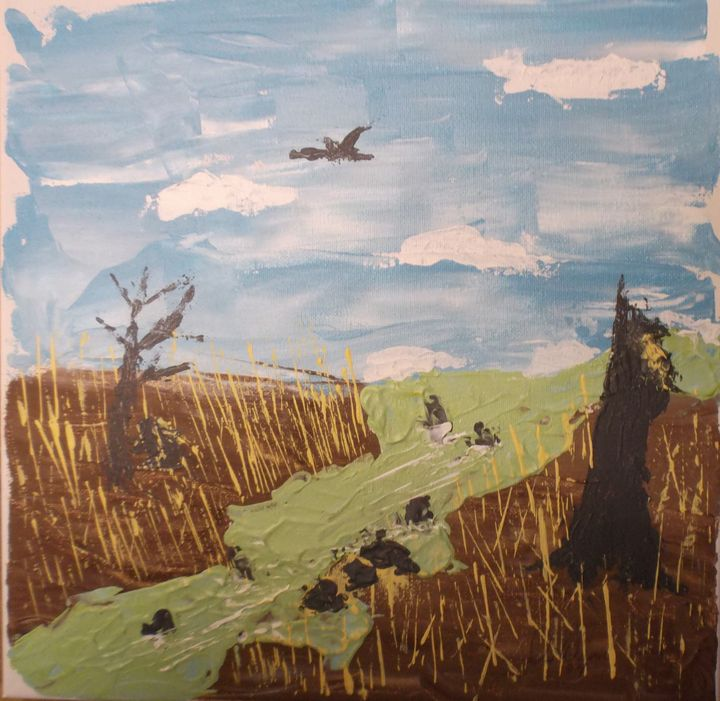 """84-7 """"Rushing Water"""" - Paintings by D Wisner"""