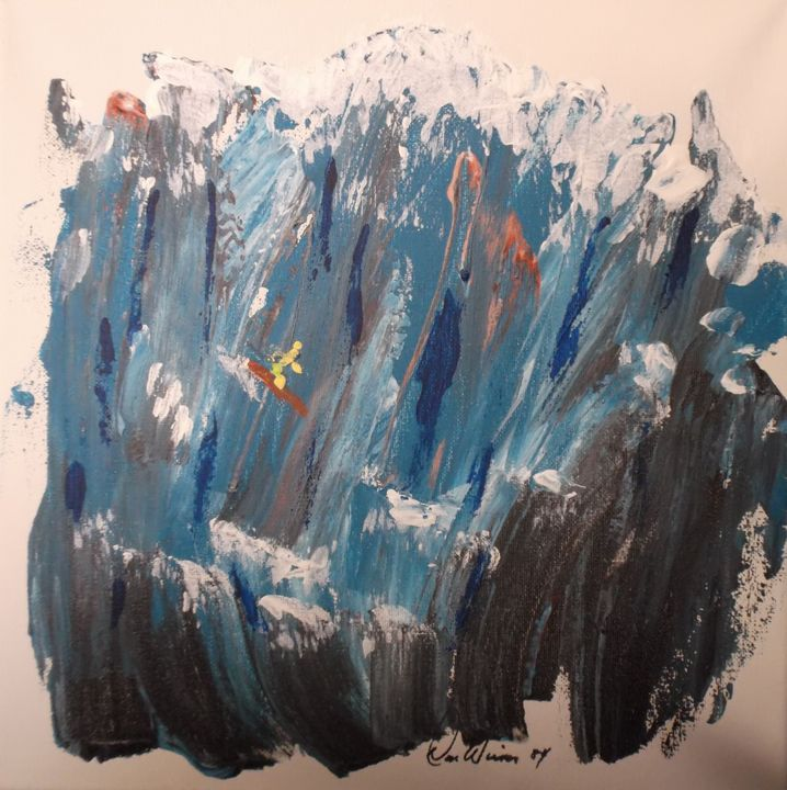 """84-10 """"Surfer Dude"""" - Paintings by D Wisner"""
