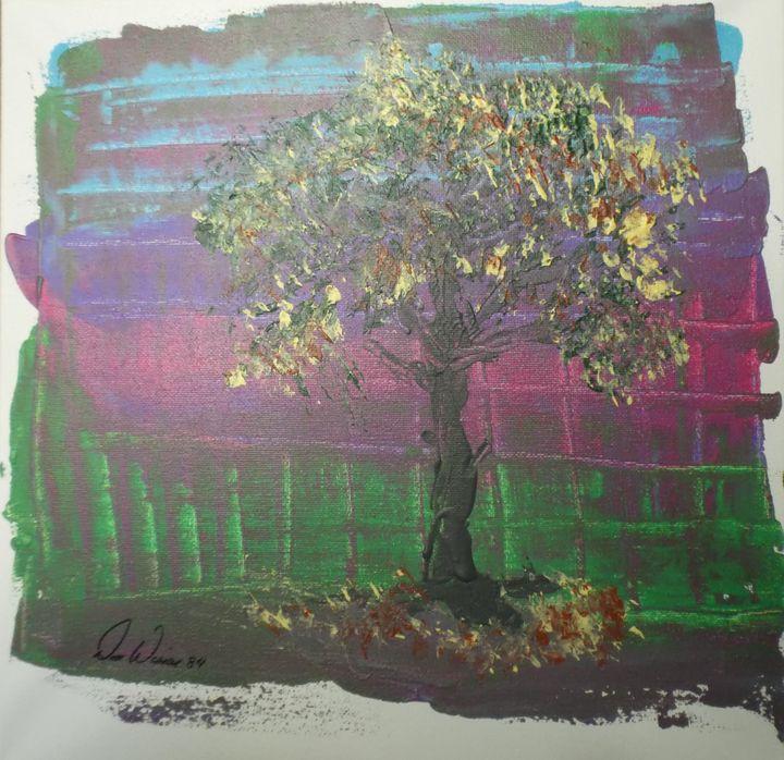 """84-9 """"Falling Leaves"""" - Paintings by D Wisner"""