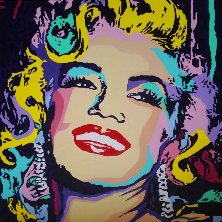 Marilyn Monroe Pop Art Portrait Elena Zaharia Paintings Prints