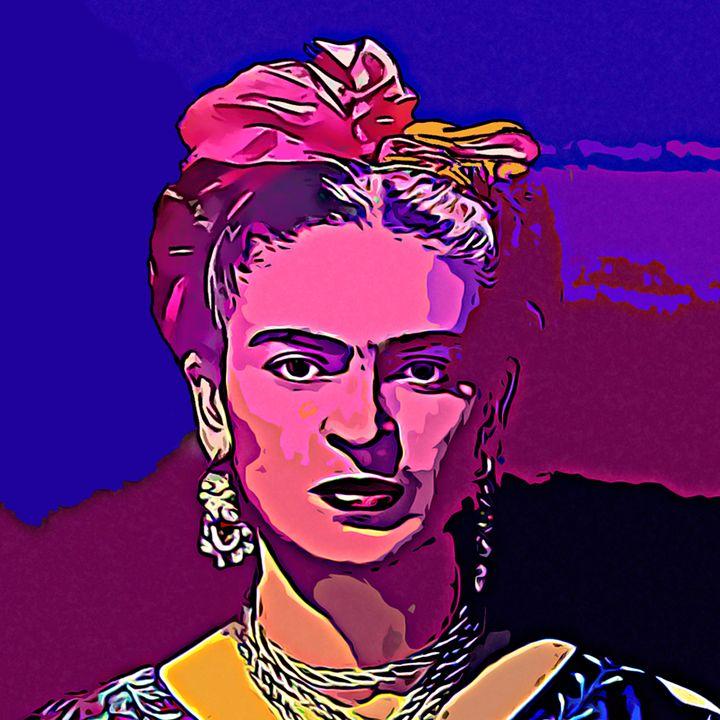 Frida Pop Art Portrait - Elena Zaharia
