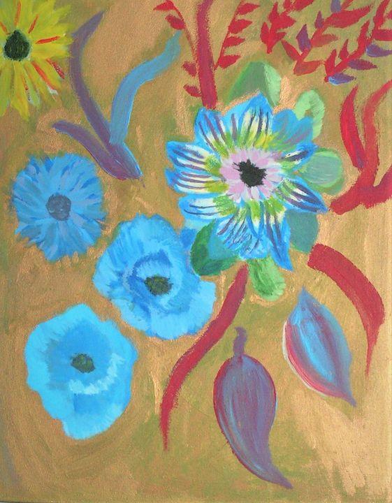 enchanted blue garden - Katarzyna Rutkowska