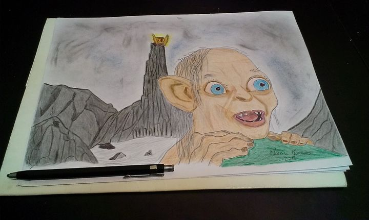 Lord of the Rings Smeagol at Mordor - Late Night Drawings