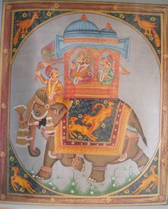 Mughal Emperor Riding on Elephant