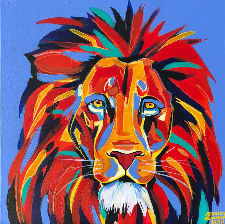 **SOLD** Abstract Lion - Keep Me Curious