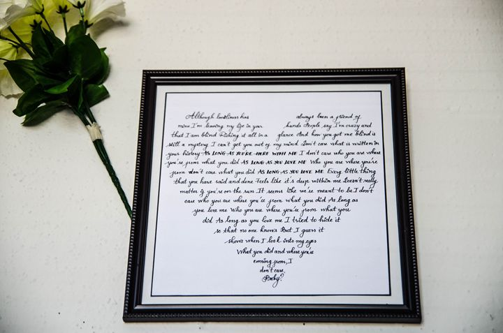 """As long as you love me"" wall frame - Art with Neyu"