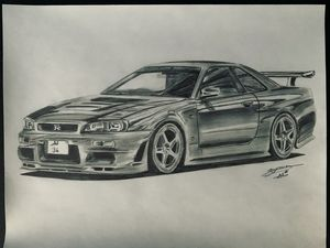 Nissan Skyline R34 GT-R drawings
