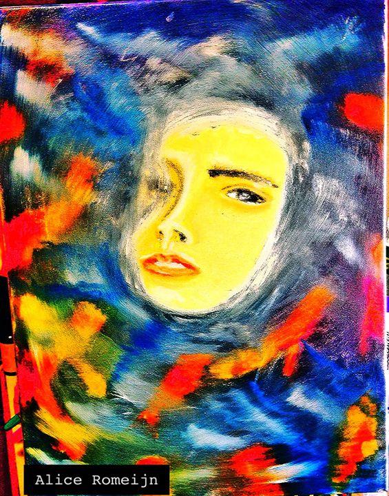 woman and fish - Alice Romeijn 's Art