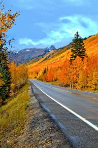 Downhill to Ouray, Colorado