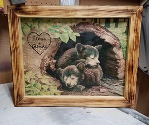 Custom Cubs On Wood