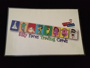 Silly Faces Trading Cards Mat