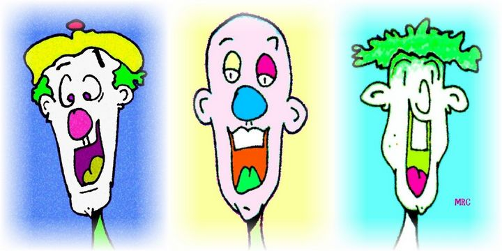 Three Guys - Nobodiesartwork