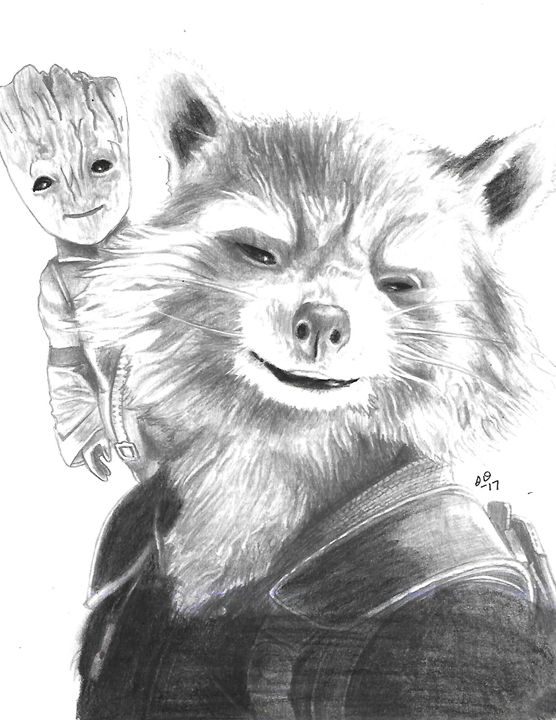Groot & Rocket - Stephanie Deskins