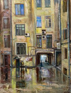 """Original oil painting """"Tea break"""""""