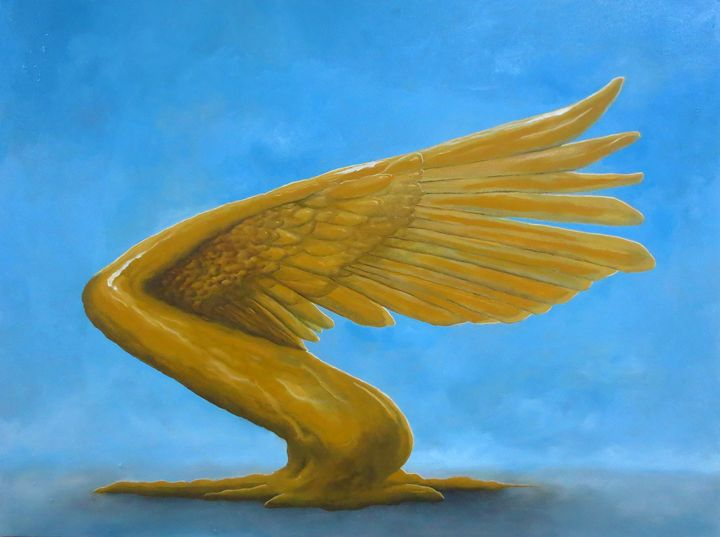 Gold Wing - Avihai cohen paintings
