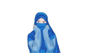 Blue hijab Muslim