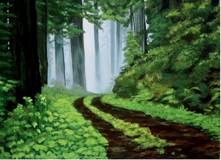 SUPER FOREST SCAPE - FINEST PAINTINGS