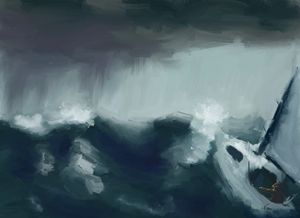 Alone in a storm