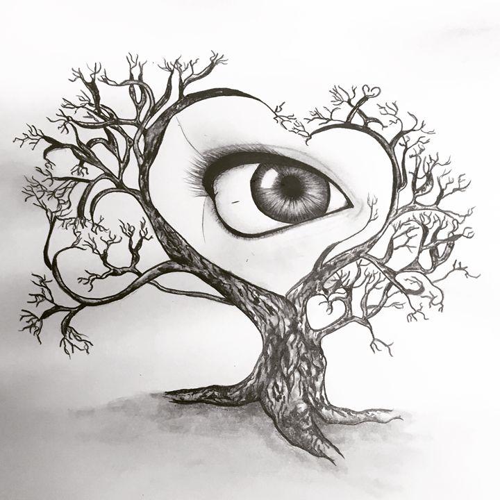 The Eye Tree Art Art Drawings Illustration Abstract