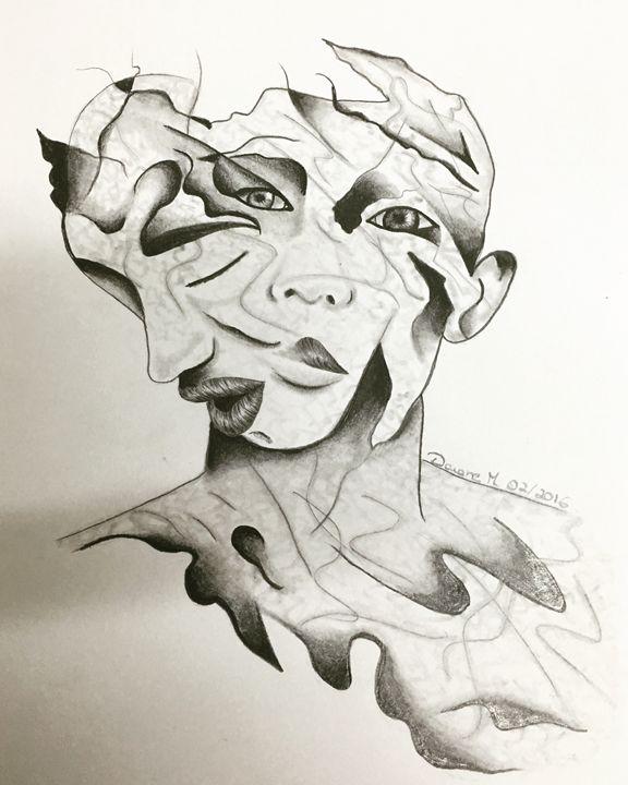 The sad to faces - Art & Art